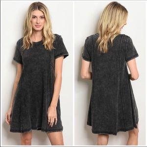 🌼Black Mineral Washed Dress
